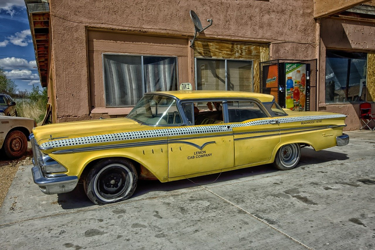 Oude Cadillac Taxi 1970